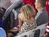 Dolore e commozione ad Amatrice, il Comune del Reatino colpito dal terremoto del 24 agosto 2016, durante la messa in ricordo delle 249 vittime del sisma, 24 agosto 2019. ANSA/ FRANCESCO PATACCHIOLA