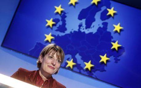 L'ambasciatrice del Regno Unito in Italia Jill Morris durante il Forum ANSA, Roma, 23 maggio 2019. ANSA/RICCARDO ANTIMIANI