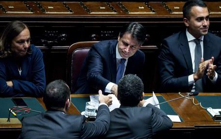 Italian premier Giuseppe Conte after his address to the Lower House ahead of a confidence vote, in Rome, Italy, 09 September 2019. ANSA/ANGELO CARCONI