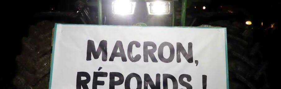 macron responds