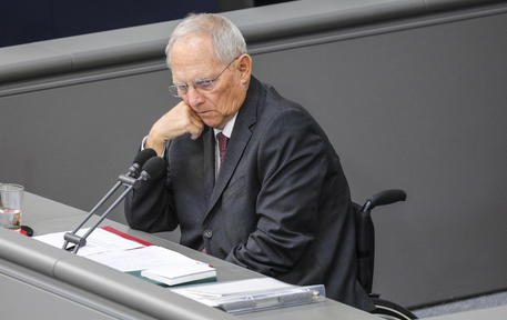 epa08320756 President of the German Parliament Bundestag Wolfgang Schaeuble during a sesstion at the Bundestag Germany's lower house of parliament in Berlin, Germany, 25 March 2020. The Bundestag assembled in lower capacity due to the health crisis to address a series of measures to counter the Coronavirus pandemic in Germany. Among the issues addressed are the Supplementary Budget Act 2020, bankruptcy amid the crisis, Hospital Relief Act, Population protection and social security. Countries around the world are taking increased measures to prevent the wide spread of the SARS-CoV-2 Coronavirus causing the Covid-19 disease.  EPA/OMER MESSINGER