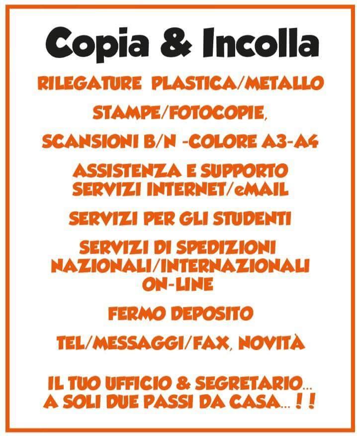 COPIA & INCOLLA SERVIZI