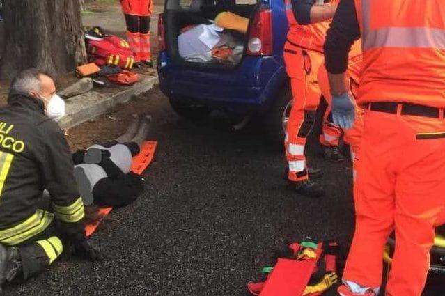 04102021 incidente-circonvallazione-clodia-vigili-fuoco-ambulanza-pompieri-1633249435707